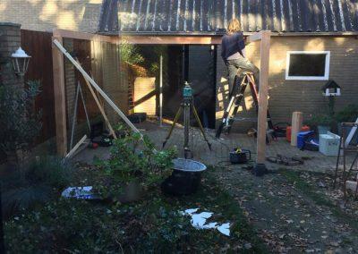 Aanleg-achtertuin-Nunspeet-tuin-terras-grondwerk-veranda