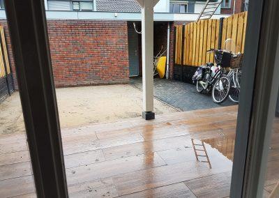 aanleg terras overkapping Nunspeet