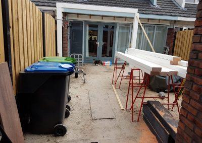 bouw veranda overkapping tuin Nunspeet
