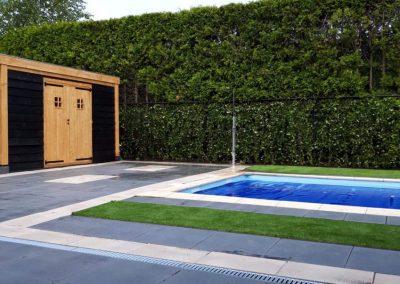 bestrating zwembad achtertuin Amersfoort