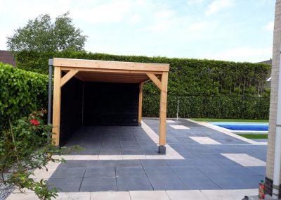bestrating zwembad achtertuin overkapping Amersfoort