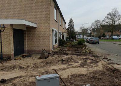 Tuinaanleg bestrating grondwerk Harderwijk