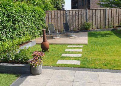Aanleg vlonder terras bestrating achtertuin Vaassen