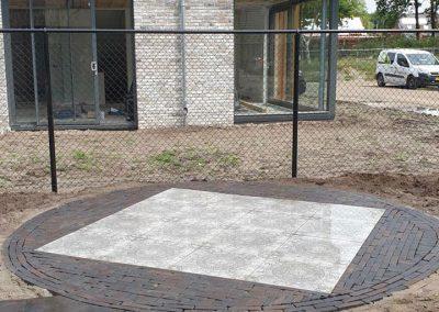 bestrating terras nieuwbouw Apeldoorn