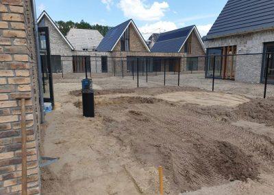 bestrating achtertuin nieuwbouw Apeldoorn
